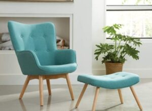 OFM 161 Collection Mid Century Modern Tufted Fabric Lounge Chair