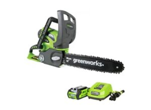 Greenworks 12-Inch 40V Cordless Chainsaw, 2.0 mAH Battery and Charger Included 20262