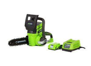 Greenworks 10-Inch 24V Cordless Chainsaw, 2.0 AH Battery Included 20362: