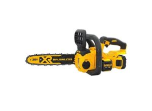 DEWALT 20V MAX XR Chainsaw Kit, 5-Ah Battery, 12-Inch