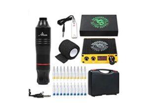 4.Dragonhawk Cartridge Tattoo Machine Kit Pen Rotary Tattoo Machine Cartridge Needles Power Supply for Tattoo Artists 1013-7 (Atom)