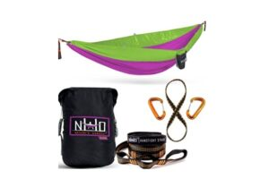 Double Camping Hammock - Portable Two Person Parachute