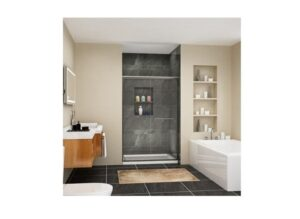 SUNNY SHOWER Semi-Frameless Glass Sliding Shower Doors