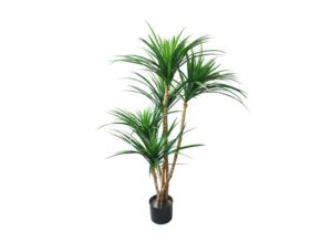 Artificial Tropical Yucana Tree with Rubber Leaves and Natural Trunk