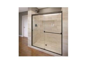 Basco Classic Sliding Shower Door, Fits 56-60-inch opening