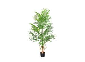 CROSOFMI Artificial Areca Palm Plant 4.6Feet Fake Palm Tree
