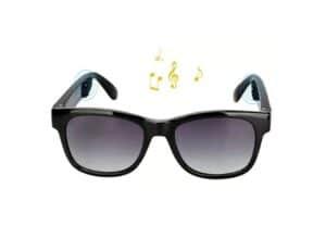 VOCALSKULL Alien Bone Conduction Glasses Polarized Sunglasses: