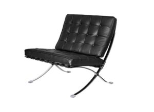 Barcelona Lounge Chair, Genuine Leather Reception Side Chair Club Chair