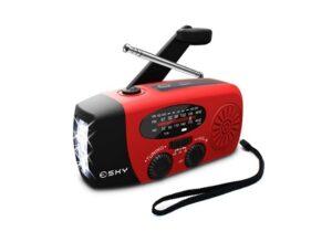 Portable Solar Radio, USB Charger by Esky