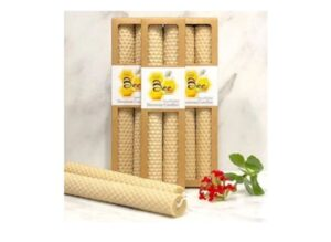 4.8 Inch Hand-Rolled Beeswax Taper Candles