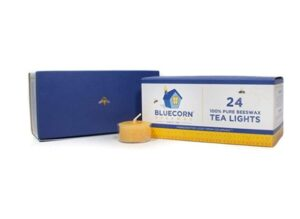 Bluecorn Beeswax 100% Pure Beeswax Tea Lights