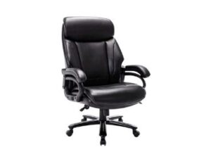 STARSPACE High Back Big & Tall 400lb Bonded Leather Office Chair