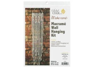 Solid Oak Macrame Wall Hanger Kit