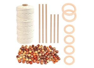 WOWOSS 109 Yards Natural Macrame