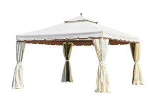 MELLCOM 12' x 12' Outdoor Gazebo Canopy, Aluminum Frame Soft Top Outdoor Patio Gazebo