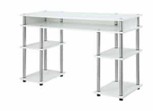Bestier 55 Inch Computer Desk with Shelves, Modern Writing Desk