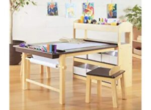 Guidecraft Deluxe Art Center: Drawing and Painting Table for Kids