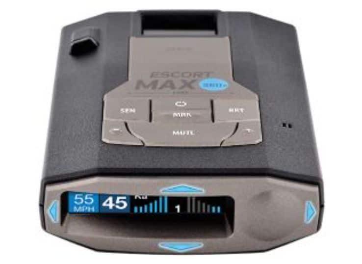 User-Friendly ESCORT MAX 360C Radar detector